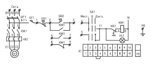 схема ящик управления я5111-